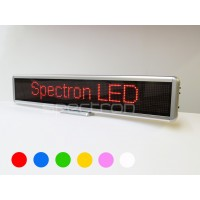 A. Red LED message sign
