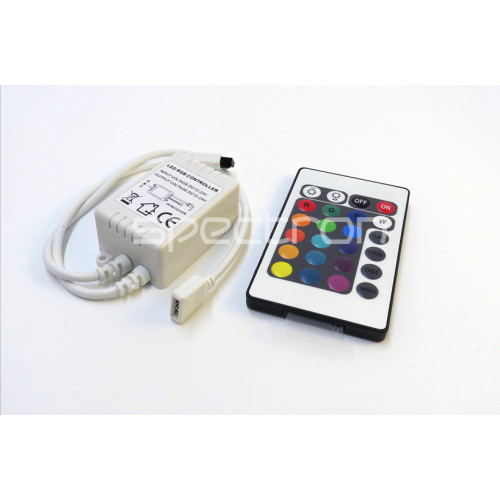 RGB Controller with IR 24 Key Wireless Remote